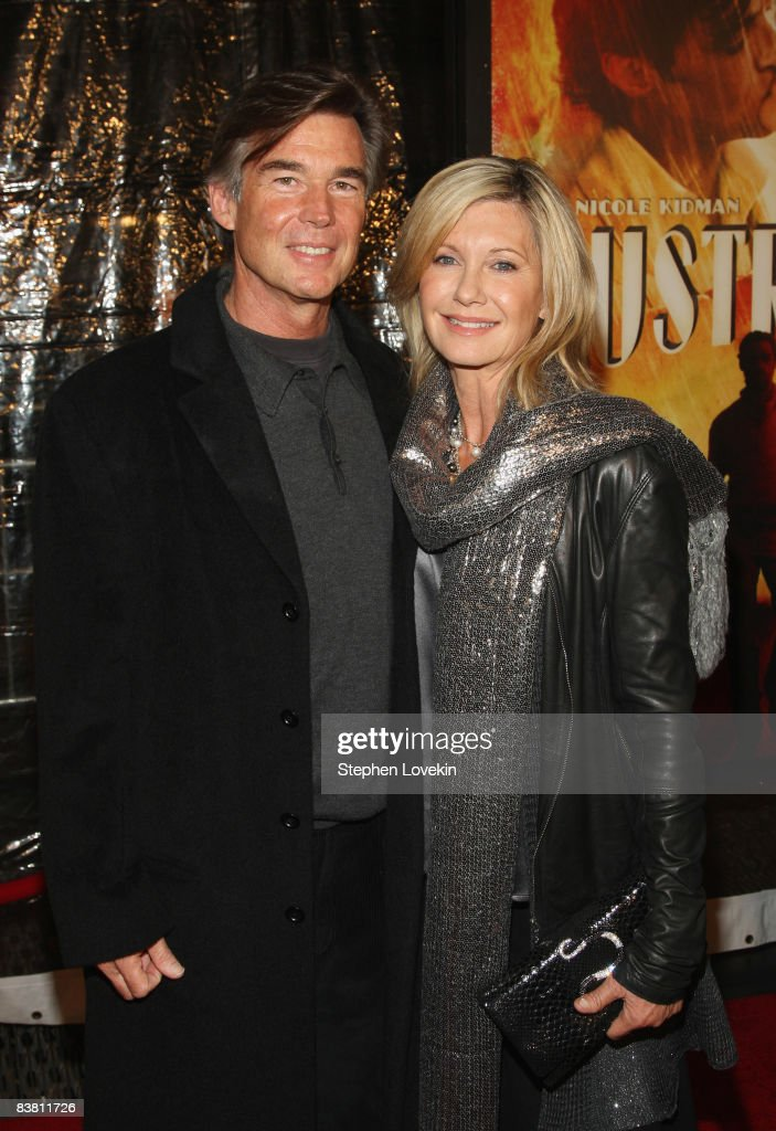 John Easterling and actress Olivia Newton John attend the premiere of 'Australia' at the Ziegfeld Theater on November 24, 2008 in New York City.