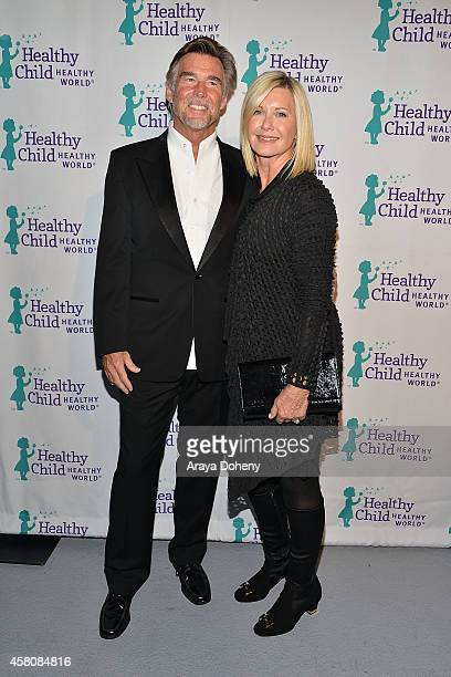 John Easterling and Olivia NewtonJohn attend Healthy Child Healthy World's Mom On A Mission 6th Annual Awards Gala at The London Hotel on October 29...