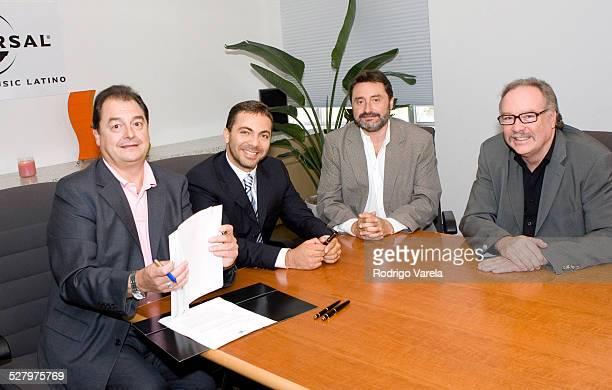 John Echevarria president of Universal Music Latin Cristian Castro Jesus Lopez chairman of Universal Music Latin America and Dario de Leon