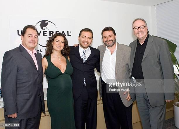 John Echevarria president of Universal Music Latin Valeria Liberman Cristian Castro Jesus Lopez chairman of Universal Music Latin America and Dario...
