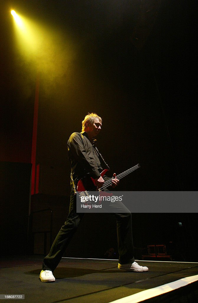 John Edwards of Status Quo performs at Quofestive at the BIC on December 9, 2012 in Bournemouth, England.