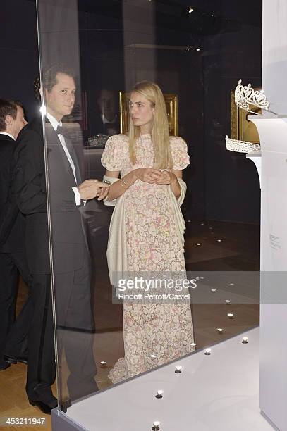John Elkan and his wife Laviana Elkan attend 'Cartier Le Style et L'Histoire' Exhibition Private Opening at Le Grand Palais on December 2 2013 in...