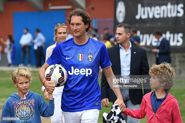 John Elkann attends prior to the preseason friendly match between Juventus A and Juventus B on August 20 2014 in Villar Perosa Italy