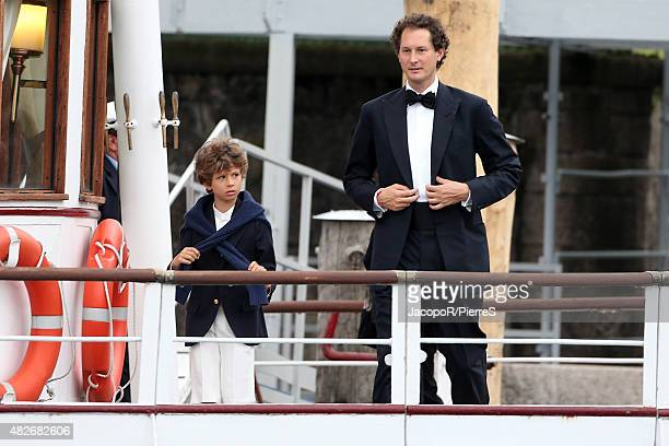 John Elkann leave Stresa to attend the wedding party of Pierre Casiraghi and Beatrice Borromeo on August 1 2015 in Stresa Italy