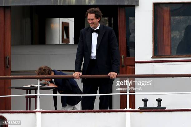 John Elkann leave Stresa to attend the wedding party on August 1 2015 in Stresa Italy
