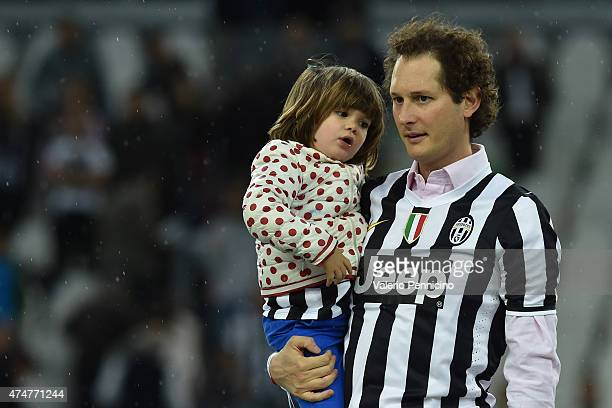 John Elkann looks on at the end of the Serie A match between Juventus FC and SSC Napoli at Juventus Arena on May 23 2015 in Turin Italy