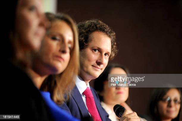 John Elkann President of FIAT group attends the 'Women Science and Technology' convention at Museo della Scienza e della Tecnica on September 26 2013...