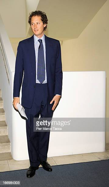 John Elkann president of Fondazione Agnelli attends the unveiling of a teaching post in honour of the late Giovanni Agnelli at the Bocconi university...