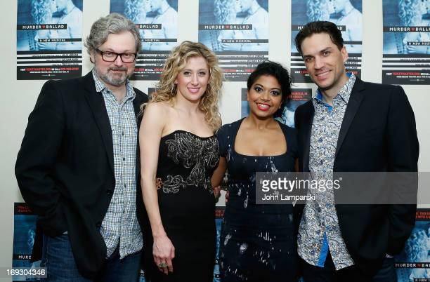 John Ellison Conlee Caissie Levy Rebecca Naomi Jones and Will Swenson attend the 'Murder Ballad' Opening Night at the Union Square Theatre on May 22...