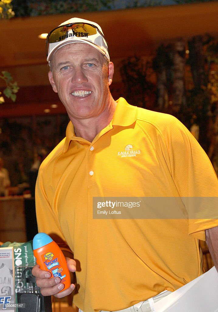 John Elway attends the Backstage Creations 2008 American Century Championship Golf Tournament on July 9 2008 in Lake Tahoe California