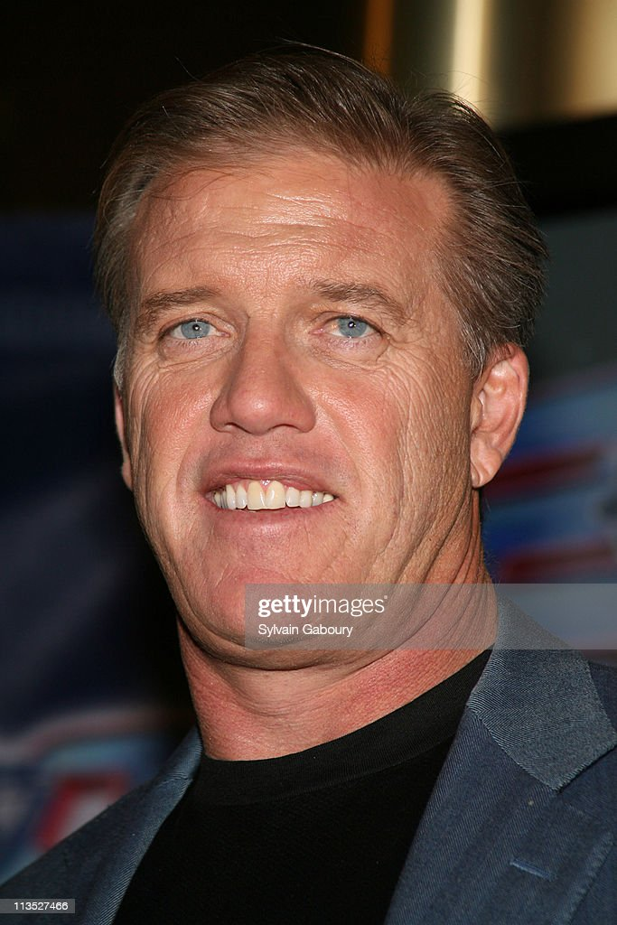 John Elway during Arena Football League Press Conference with Jon Bon Jovi and John Elway for the AFL 20 Seasons Kickoff January 26 2006 at ESPN Zone...