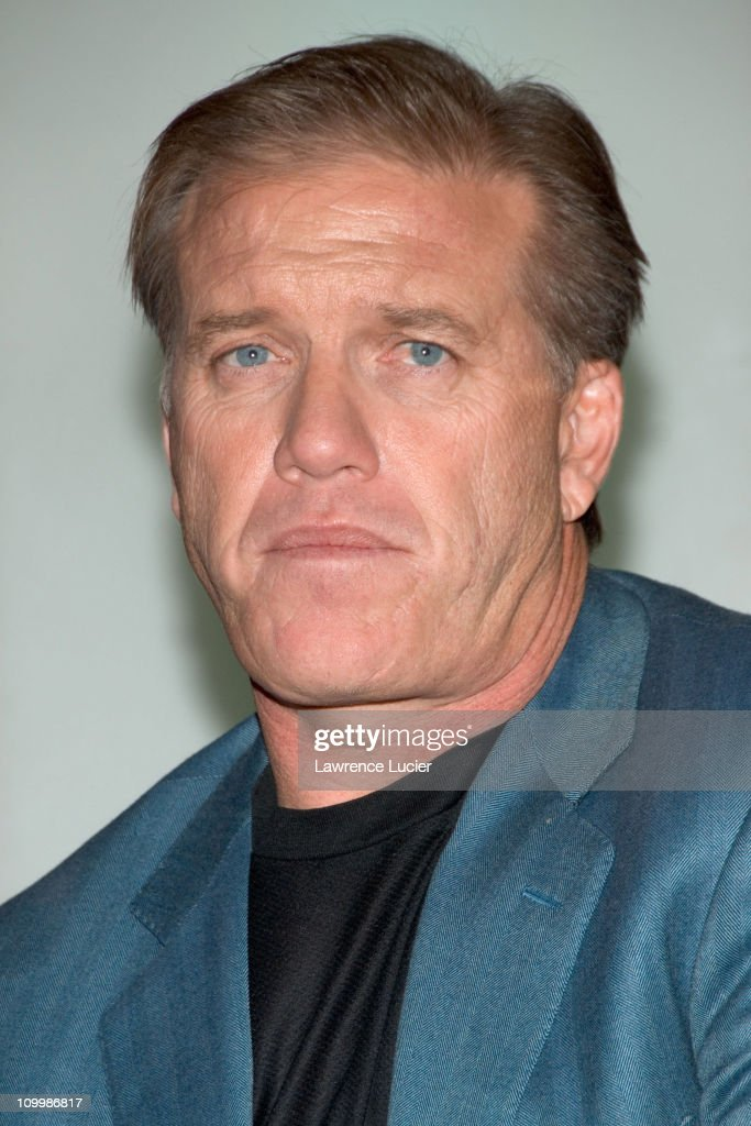 John Elway during Arena Football League's 20th Season Kickoff Press Conference at ESPN Zone in New York City New York United States