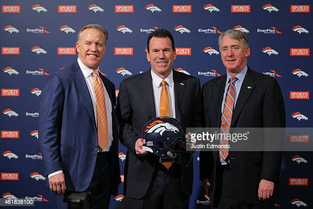 John Elway Executive Vice President of Football Operations/General Manager for the Denver Broncos Head Coach Gary Kubiak of the Denver Broncos and...