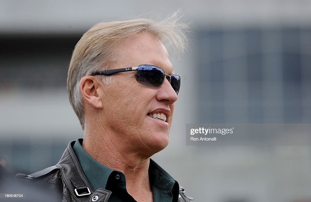 John Elway watches from the Stanford sideline in the 1st half September 14, 2013 at Michie Stadium in West Point, New York. Stanford defeated Army 24-20.