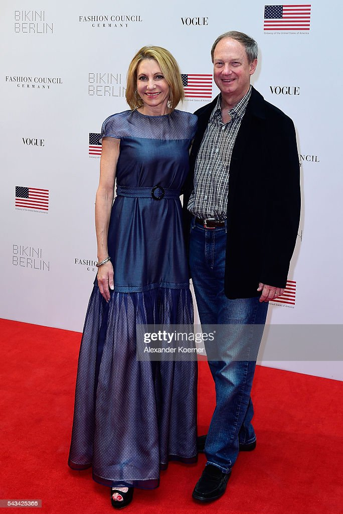 John Emerson and Kimberly Marteau Emerson at the Sustainability & Style event at the Embassy of The United States of America on June 28, 2016 in Berlin, Germany.