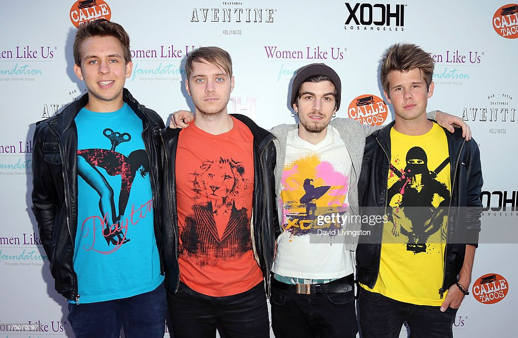 John Erik Bergamini, Kris Piersson, Bali Harko and Robin Hedlund of Second Nature attend the One Girl At A Time fundraiser at Aventine Hollywood on July 30, 2013 in Hollywood, California.