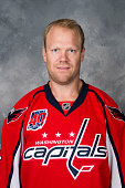 John Erskine of the Washington Capitals poses for his official headshot for the 20142015 season on September 18 2014 at the Kettler Capitals Iceplex...