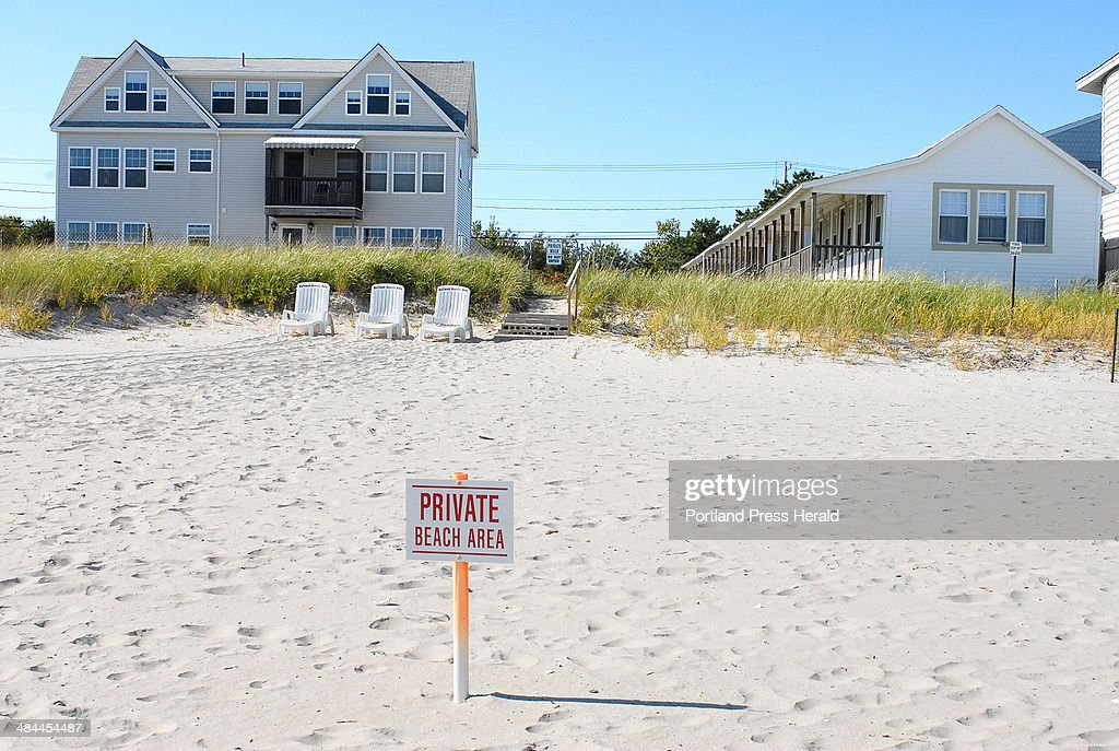 Monday September 24 2007 Eleanor and Murray Hoffman claim the beach in front of their OOB home is private property and has posted her piece of beach...