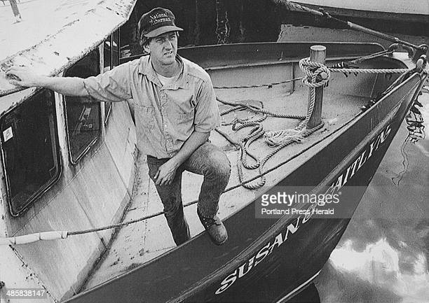 John Ewing/Staff Photographer September 14 1994 Saco fisherman Craig Pendleton aboard his fishing boat 'Susan Caitlyn' berthed in Portland harbor