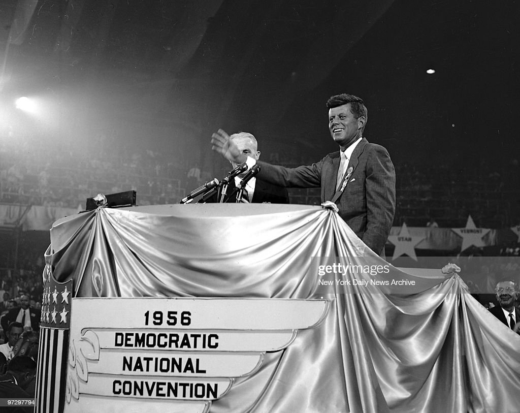 John F. Kennedy at the Democratic National Convention.