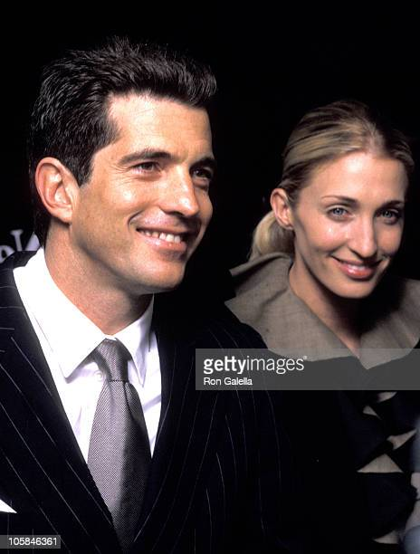 John F Kennedy Carolyn Bessette during 'Newman's Own' George Awards at US Customs House in New York City New York United States