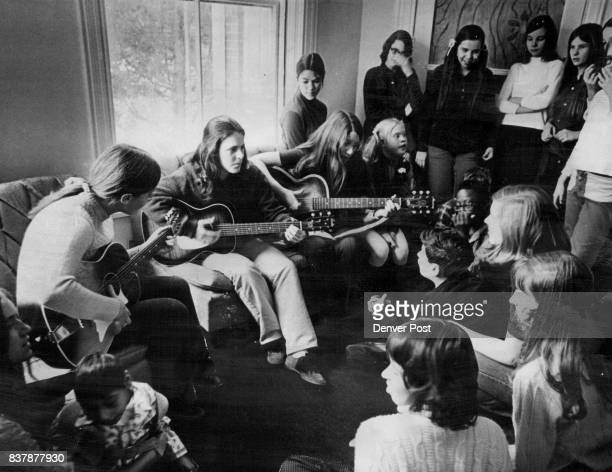 John F Kennedy High School Students Entertain At Fort Logan Twenty girls from JFK's Youth Association for Retarded Children used money earned from...