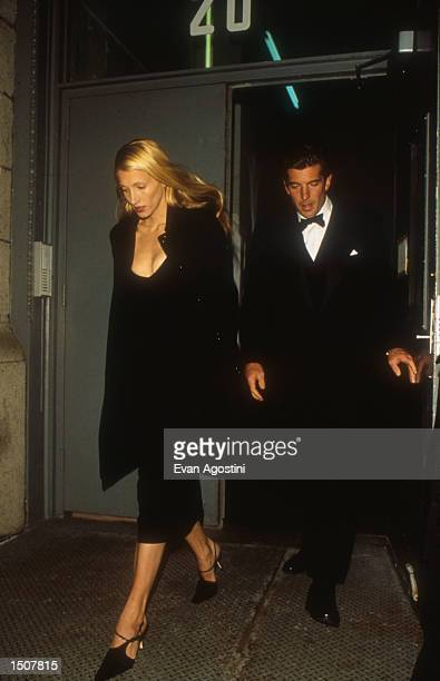 John F Kennedy Jr and Caroline Bessette in NYC New York March 11 1996
