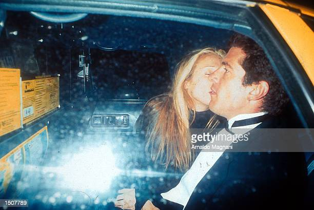John F Kennedy Jr and Caroline Bessette taking a taxi in NYC New York March 11 1996