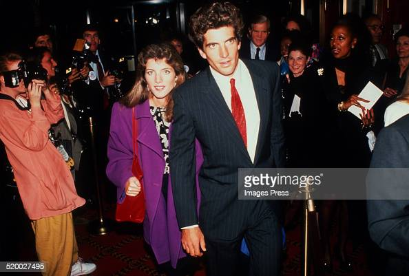 John F Kennedy Jr and Caroline Kennedy attends an event at the Ziegfeld Theater circa 1989 in New York City