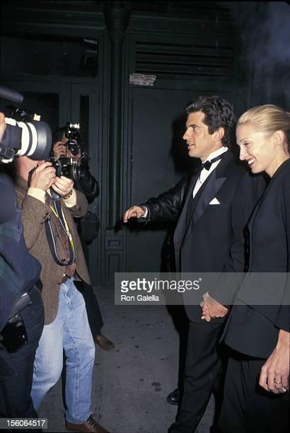 John F Kennedy Jr and Carolyn Bessette arrive at the Municipal Art Society Jacqueline Kennedy Onassis Medal to Robert De Niro 440 Lafayette Street...