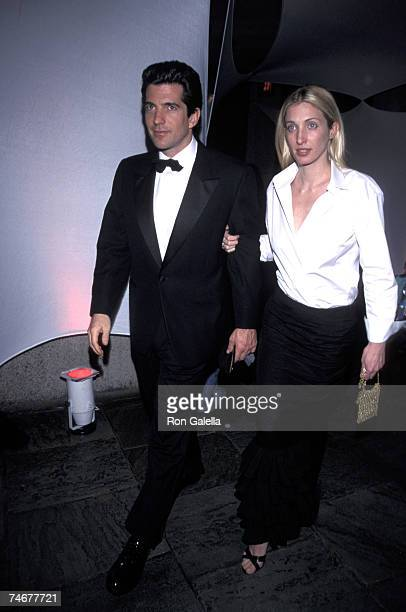 John F Kennedy Jr and Carolyn Bessette Kennedy at the 'Bright Night Whitney' Annual Fundraising Gala in New York City NY Whitney Museum 03/09/99...