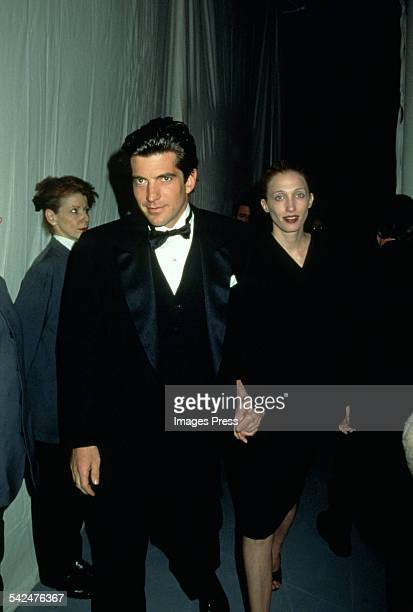 John F Kennedy Jr and Carolyn BessetteKennedy circa 1997 in New York City