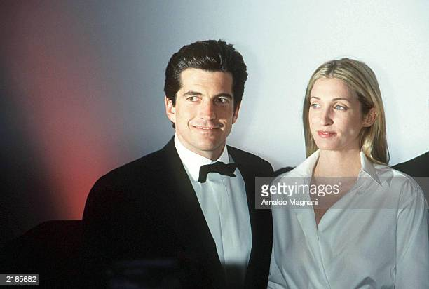 John F Kennedy Jr and his wife Carolyn Bessette Kennedy attend the 'Brite Nite Whitney' Fundraising Gala March 9 1999 at the Whitney Museum of...