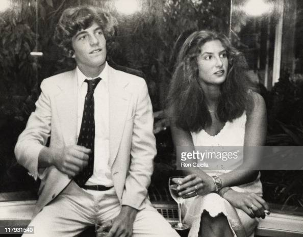 John F Kennedy Jr and Meg Azzoni during 6th Annual RFK Tennis Tournament Party at Rainbow Room in New York City New York United States