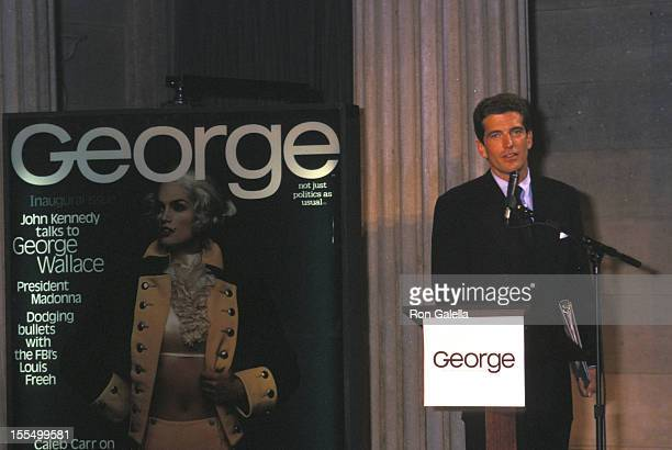 John F Kennedy Jr at the Press Conference for George Magazine Federal Hall New York City NY 09/07/95