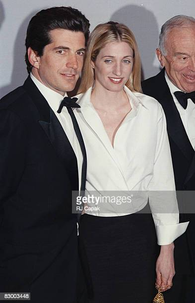 John F Kennedy jr Carolyn Bessette at the 'Bright Night Whitney' Annual Fundraising Gala in New York City NY Whitney Museum 9th March 1999