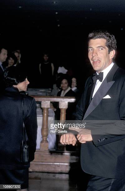John F Kennedy Jr during American Jewish Committee Honors David J Pecker at Hilton Hotel in New York City New York United States