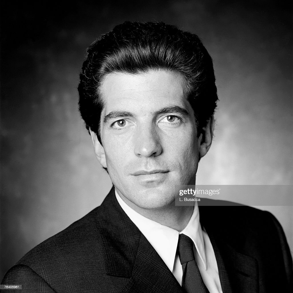 john f kennedy jr is photographed for the february 1996 issue of