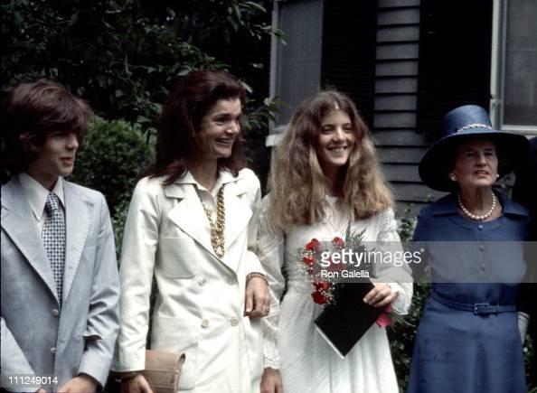 John F Kennedy Jr Jackie Onassis Caroline Kennedy and Rose Kennedy