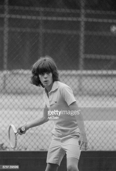 John F Kennedy Jr playing tennis in Central Park circa 1970 New York