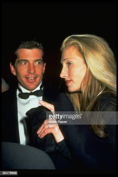 John F Kennedy Jr publicist girlfriend Carolyn Bessette at Municipal Art Society fete