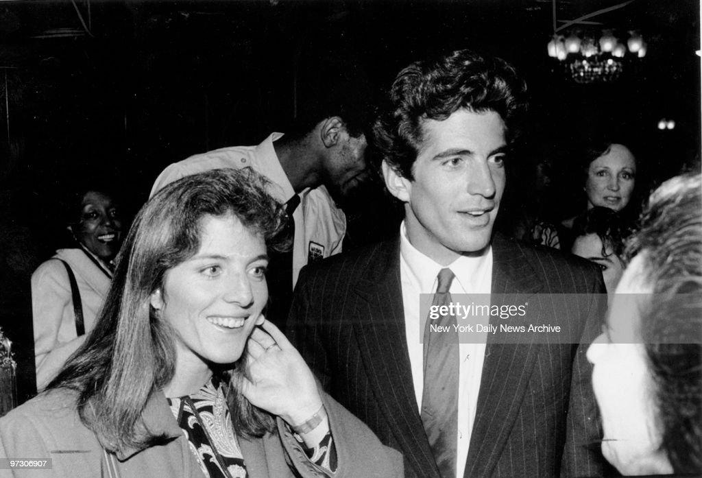 John F Kennedy Jr with his sister Caroline Kennedy Schlossberg at the Ziegfeld Theater
