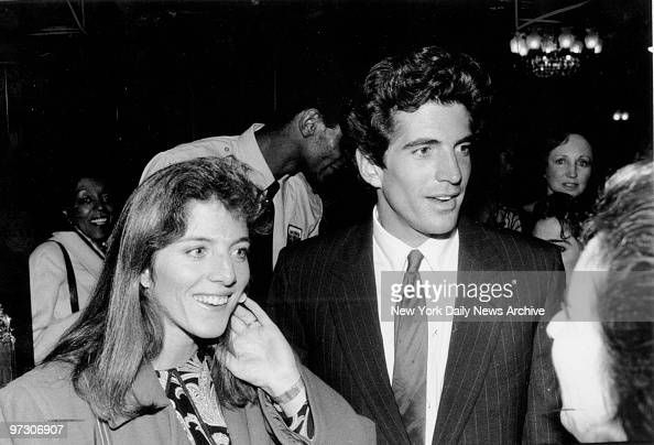 John F Kennedy Jr with his sister Caroline Kennedy Schlossberg at the Ziegfeld Theater