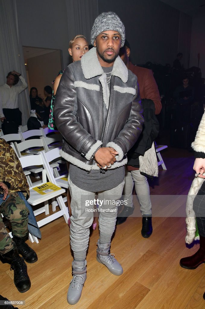 John ' Fabolous' Jackson attends VFILES Front Row during New York Fashion Week on February 10, 2017 in New York City.