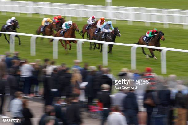 John Fahy riding Masterofdiscovery win The BGC Racing Ownership From £125 Handicap Stakes at Windsor Racecourse on April 10 2017 in Windsor England