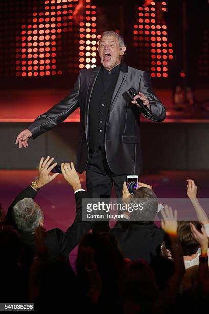 John Farnham performs during the Prime Minister's Olympic Dinner at The Melbourne Convention and Exhibition Centre on June 18 2016 in Melbourne...