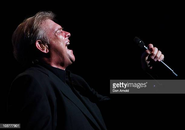 John Farnham performs live on stage at the Lyric Theatre Star City Casino on September 3 2009 in Sydney Australia