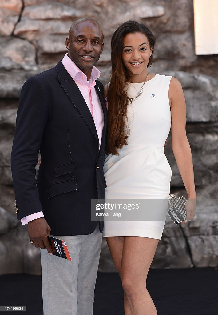 John Fashanu and daughter Amal Fashanu attend the UK Premiere of 'The Lone Ranger' at Odeon Leicester Square on July 21, 2013 in London, England.