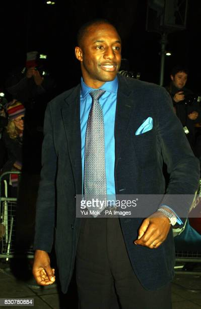 John Fashanu arrives for the premiere of Mean Machine at the Odeon Kensington The film produced by Matthew Vaughan is a remake of the 1974 cult...
