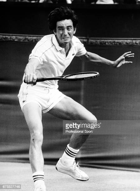 John Feaver of Great Britain in action during the Wimbledon Championships held at the All England Lawn Tennis and Croquet Club in Wimbledon London...